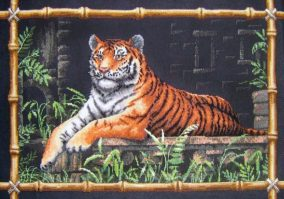 "Bordado ""Bamboo Tiger"""