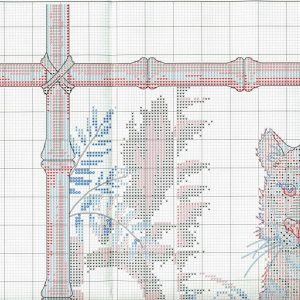 Embroidery scheme Bamboo Tiger (Dimensions) 1 from 6