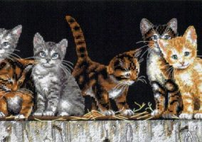 "Embroidery ""Kittens in the backyard"""