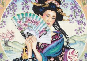 "Bordado ""Charmoso geisha"""