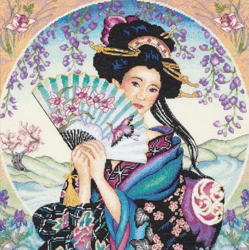 Embroidery Charming Geisha (Dimensions)