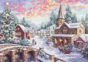 "Broderie ""Holiday Village"""