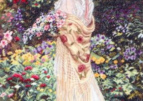 "Embroidery ""In her garden"""