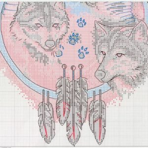 Embroidery scheme Trio wolves (Dimensions) 2 from 2