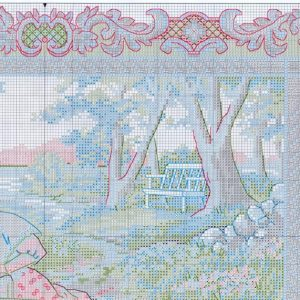 Embroidery scheme Serene picnic (Dimensions) 2 from 4