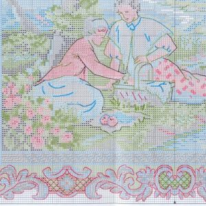 Embroidery scheme Serene picnic (Dimensions) 3 from 4