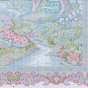 Embroidery scheme Serene picnic (Dimensions) 4 from 4