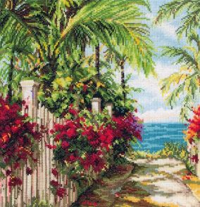 "Cross stitch ""Seaside Walk"""