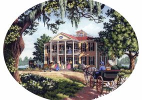 "Embroidery ""Southern home"""