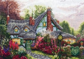 "Cross-stitch ""Sweetheart Cottage"""