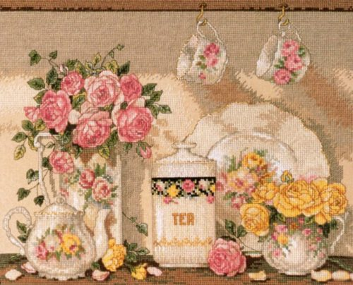 Embroidery Tea and roses (Bucilla)
