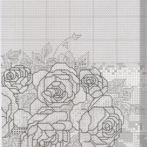 Embroidery scheme Tea and roses (Bucilla) 2 from 8