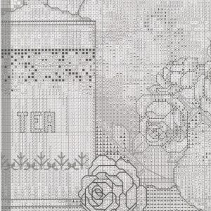 Embroidery scheme Tea and roses (Bucilla) 7 from 8
