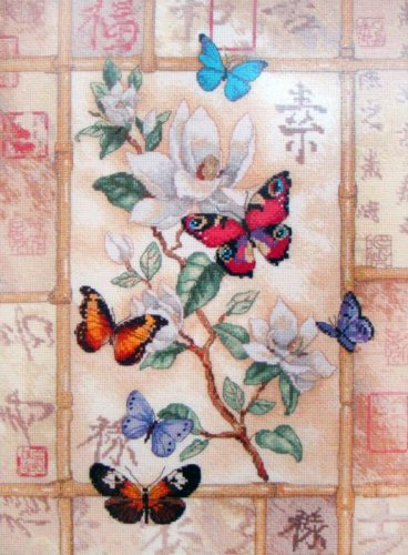 Embroidery Glittering butterflies (Dimensions)