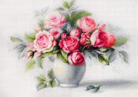 "Embroidery ""Etude with Roses"""
