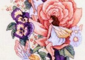 "Broderi ""Flowers Fairies"""
