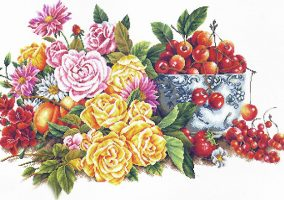 Вышивка «Perfumed Flower and Fruits»