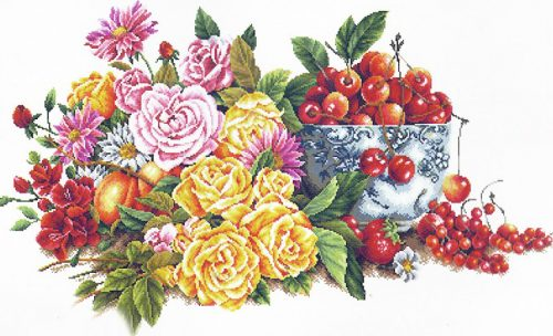 Вышивка Perfumed Flower and Fruits (STOLNA CERKEV)
