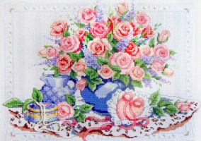 "Embroidery ""Petals and pearls"""