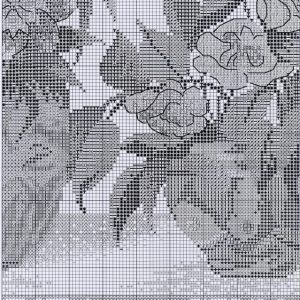 Embroidery scheme Pink Bouquet (Dimensions) 7 from 8