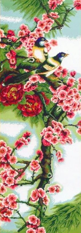 "Broderie ""Ume with bird"""