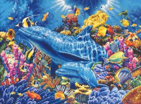 "Broderi ""Dolphins of the ocean"""