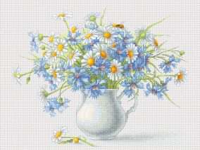 "Embroidery ""Cornflowers and Camomile"""