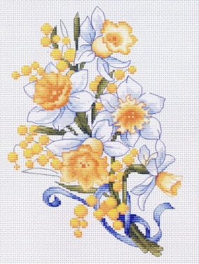 """Embroidery """"Daffodils"""""""