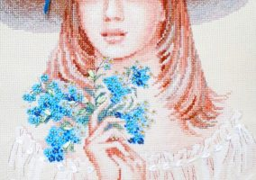 "Embroidery ""Forget-me-nots"""