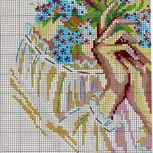 Embroidery scheme Forget-me-nots (Riolis) 3 from 4