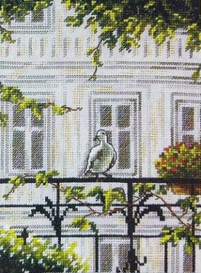 "Embroidery ""Guest on the balcony"""