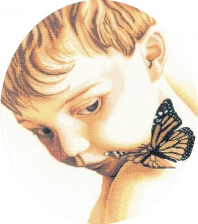 "Вышивка ""Boy with butterfly"""