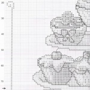Embroidery scheme Mountain cakes (Vervaco) 1 from 4