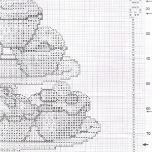 Embroidery scheme Mountain cakes (Vervaco) 2 from 4