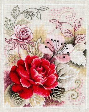 "Broderie ""Rose Arabesque"""