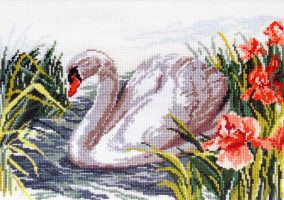 "Bordado ""White Swan"""