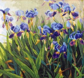 "Embroidery ""Irises"""