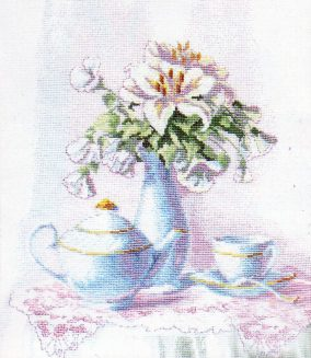 "Embroidery ""Morning tea"""
