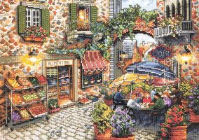 "Embroidery ""Sidewalk Cafe"""