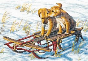 Stickerei «Sled Dogs»