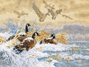 "Broderie ""Winter Retreat"""