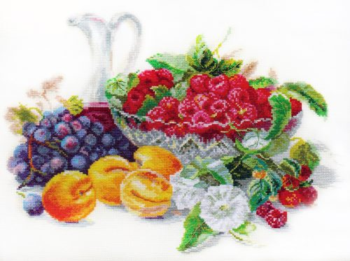 Broderie abricots et framboises (Alice)