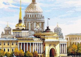 "Embroidery ""Saint-Petersburg. Admiralty embankment»"