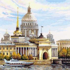 "Embroidery ""Saint Petersburg. Admiralty embankment"""