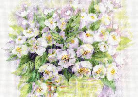"Embroidery ""Watercolor Jasmine»"