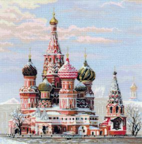 "Bordado ""Moscou. Catedral do St .basil»"