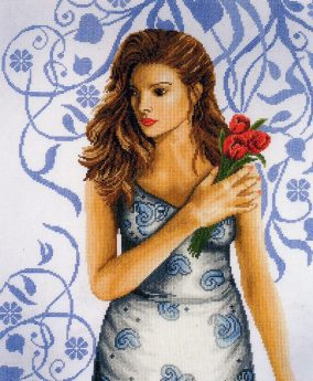 « Lady in Blue broderie »