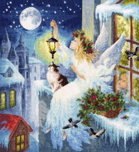 "Embroidery ""Winter fairy»"