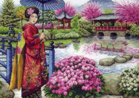 "Embroidery ""The Japanese Garden"""