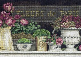 "Вышивка ""flowers of Paris""."